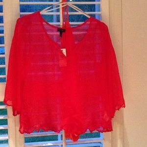 Red Jessica Simpson shirt and Tank